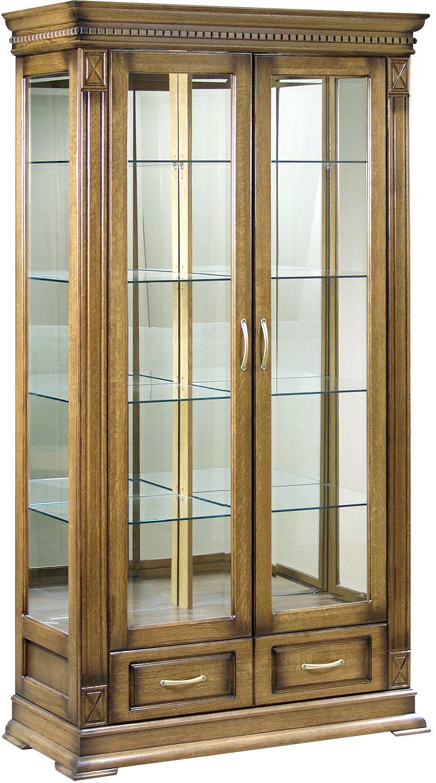 Шкаф с витриной «Верди Люкс 2з» П487.21з купить в интернет ...